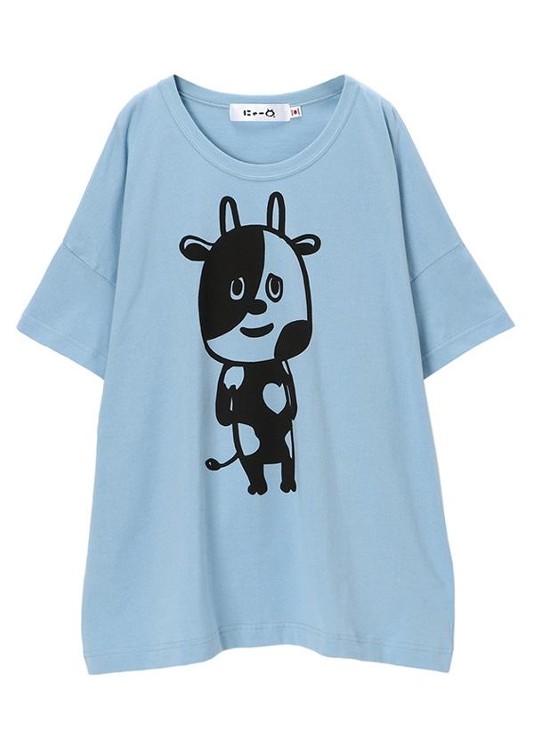にゃー / びっぐにゃーとおともだちT / Tシャツ ライトブルー