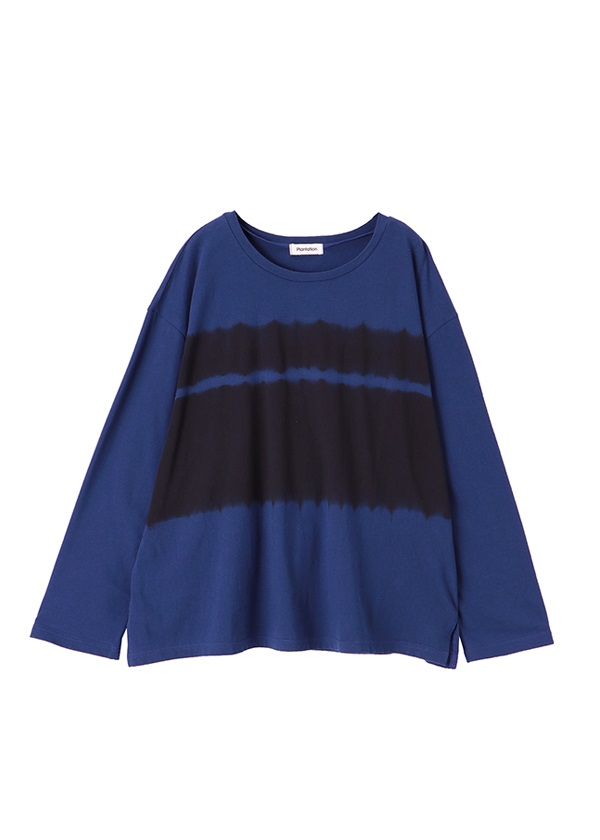 Plantation / BLUE-SHIBORI-T / Tシャツ ネイビー