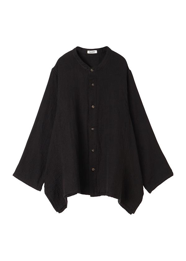 Plantation L-line / UCHINOマシュマロガーゼ / シャツ 黒