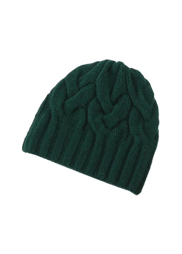 Plantation / GF ジョウモンニット帽 / ニット帽 グリーン