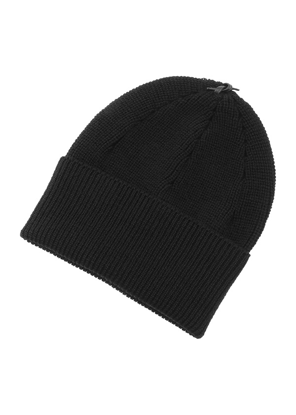 GF Leather Strap Knit cap 黒