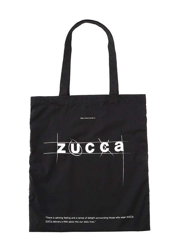 ZUCCa / LOGOトート (MARUPEKE) / バッグ 黒