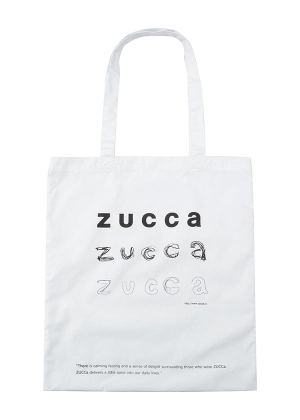 ZUCCa / LOGOトート (KAKIKATA) / バッグ 白