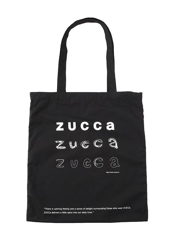 ZUCCa / LOGOトート (KAKIKATA) / バッグ 黒