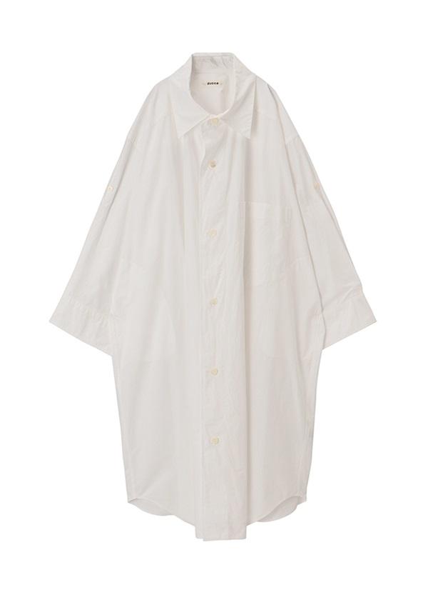 ZUCCa / BIGシャツ / ワンピース 白