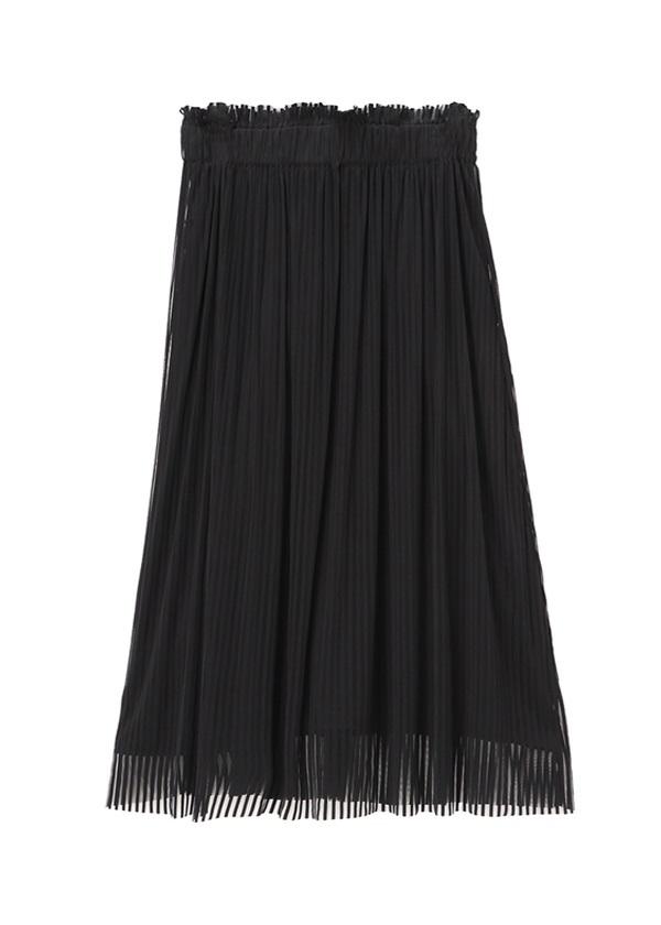 ZUCCa / ストライプチュールジャージィー / スカート 黒