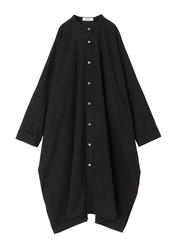 ZUCCa / コットンツイルシャツ / ワンピース 黒