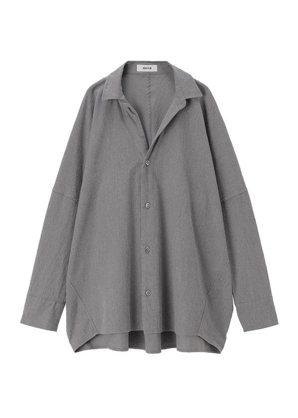 ZUCCa / コットンツイルシャツ / シャツ グレー