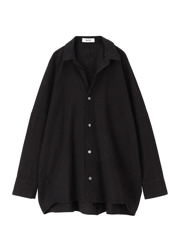 ZUCCa / コットンツイルシャツ / シャツ 黒