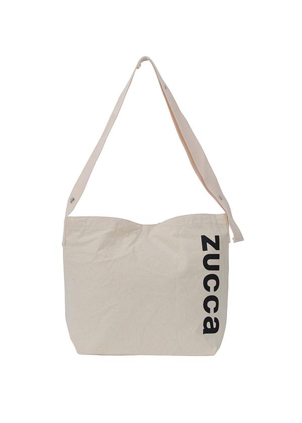 ZUCCa / LOGOエコバッグ / ショルダーバッグ オフ白