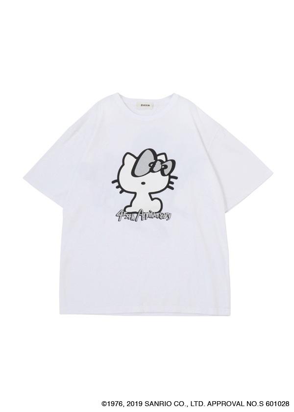 ZUCCa / HELLO KITTY×ZUCCa Tシャツ / カットソー 白