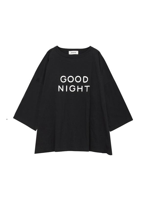 【SALE】ZUCCa / S ねむくなるTシャツ / Tシャツ 黒