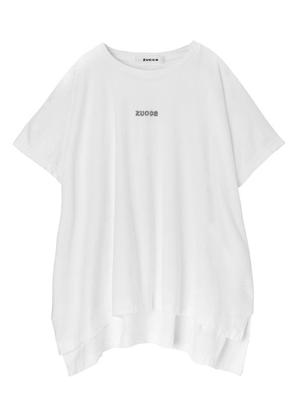 ZUCCa / エンブロイダリーロゴTシャツ / Tシャツ 白