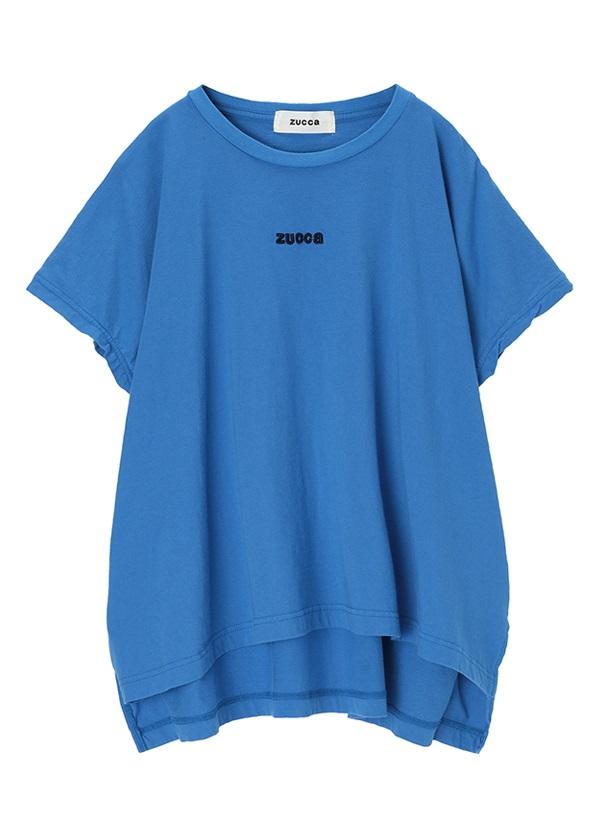 ZUCCa / エンブロイダリーロゴTシャツ / Tシャツ ブルー