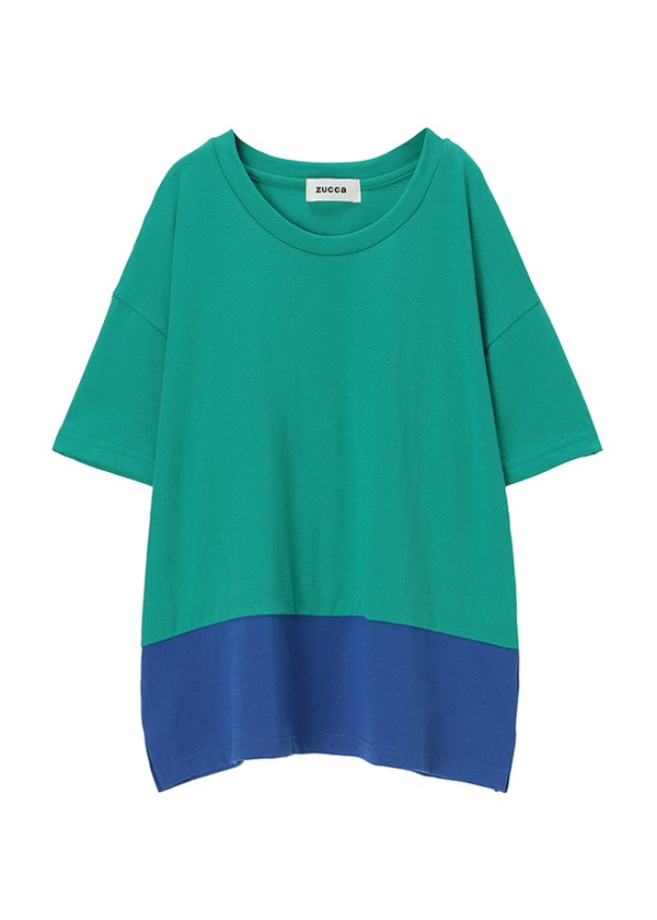 【SALE】ZUCCa / S (R)BLUE 30 / カットソー グリーン