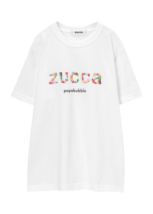 ZUCCa / キャンディロゴTシャツ / Tシャツ 白