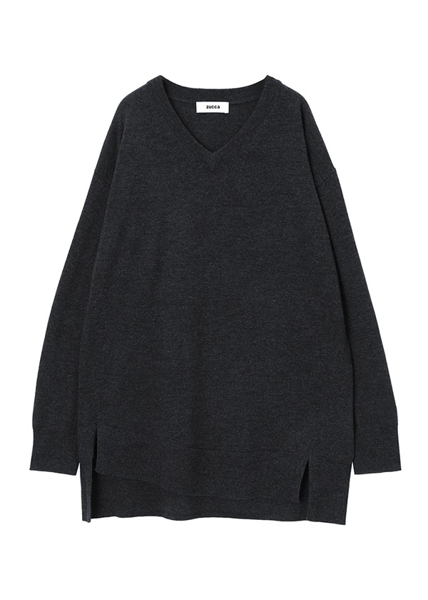 ZUCCa / GF ウールセーター / セーター チャコールグレー