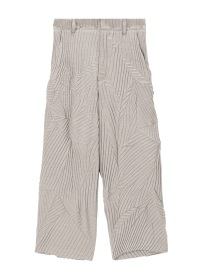 Leaf pleats wide pants