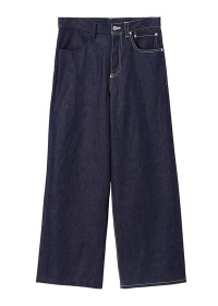 S Half stitch denim pants