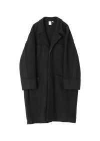 Melton Knit Coat