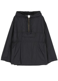 (O) light nylon anorak parka