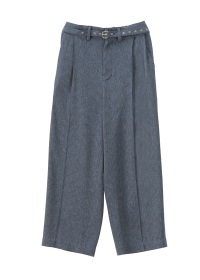 (O) 2 TUCK WIDE STRAIGHT PANTS