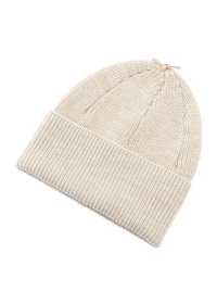 Leather Strap Knit cap