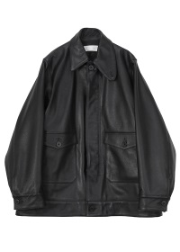 GF Asymmetry Collar Leather Jacket